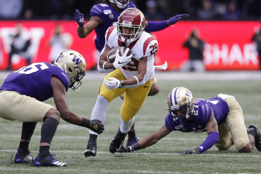 Vavae Malepeai RB USC vs Washington