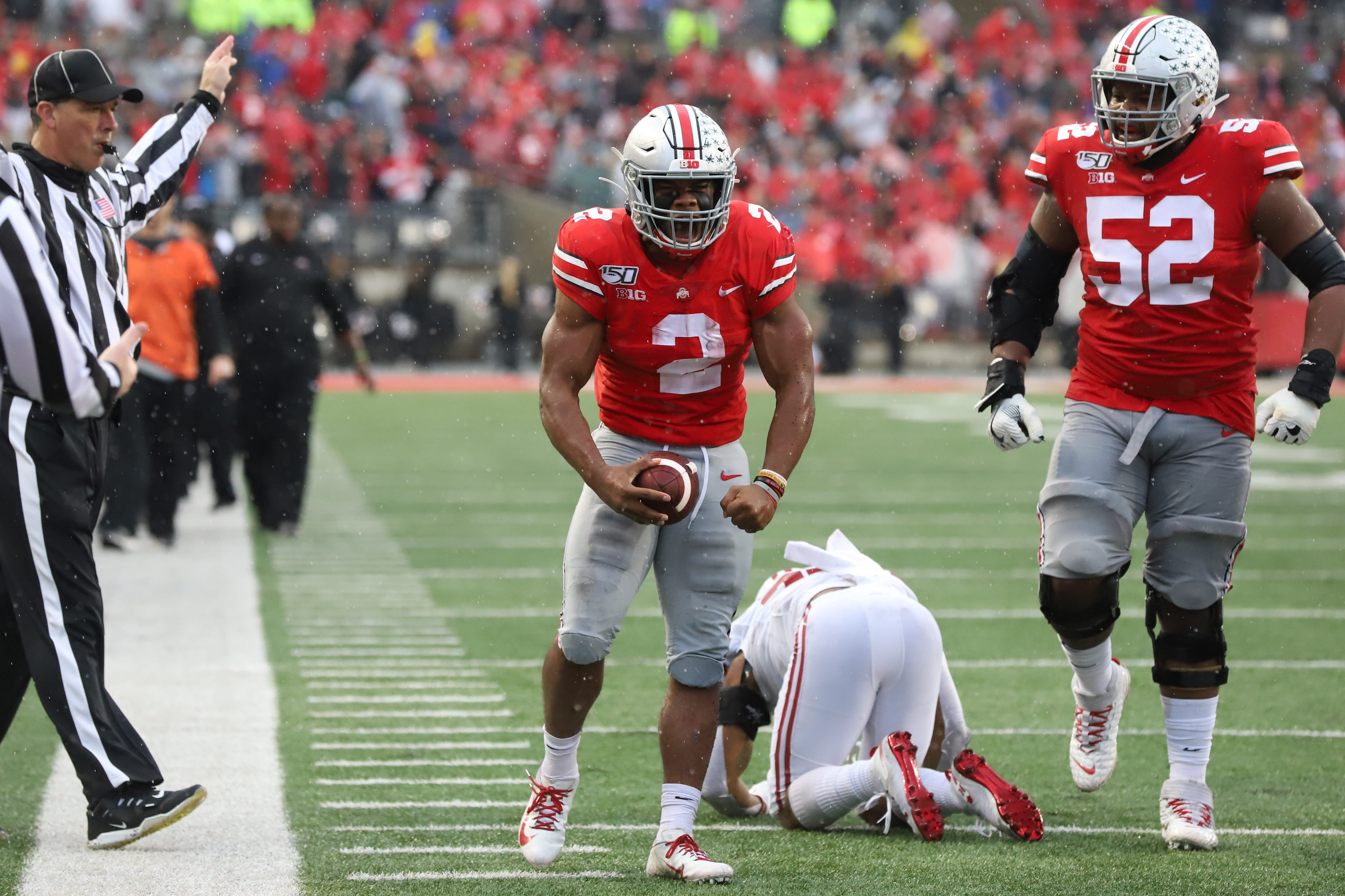 J.K. Dobbins Ohio State vs Wisconsin Week 9 2019