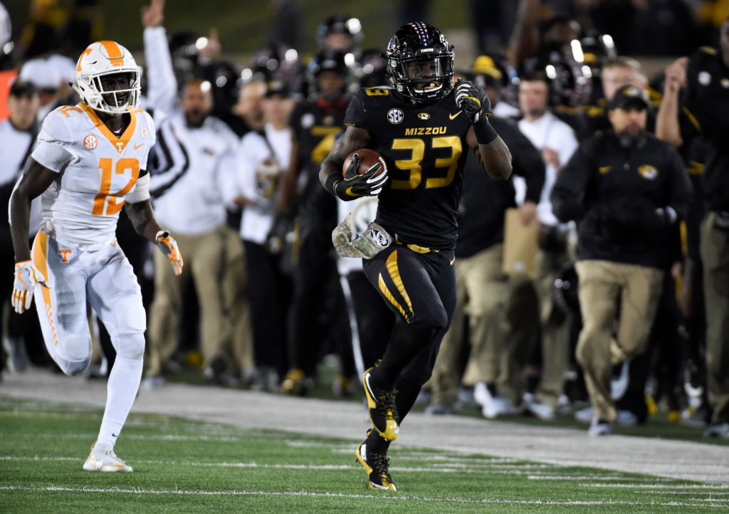Larry Rountree III RB Missouri vs Tennessee 2017