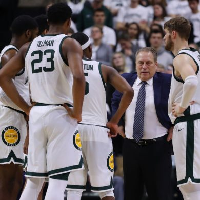 Tom Izzo Timeout Michigan State vs Purdue 2018