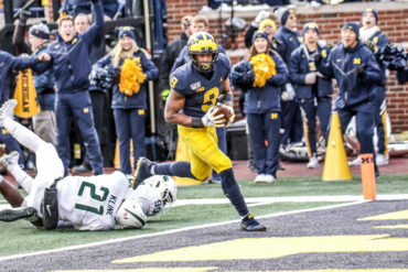 Donovan Peoples-Jones Michigan vs Michigan State Week 12 2019