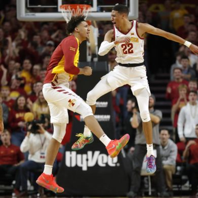 Tyrese Haliburton Celebration Iowa State Cyclones 2019