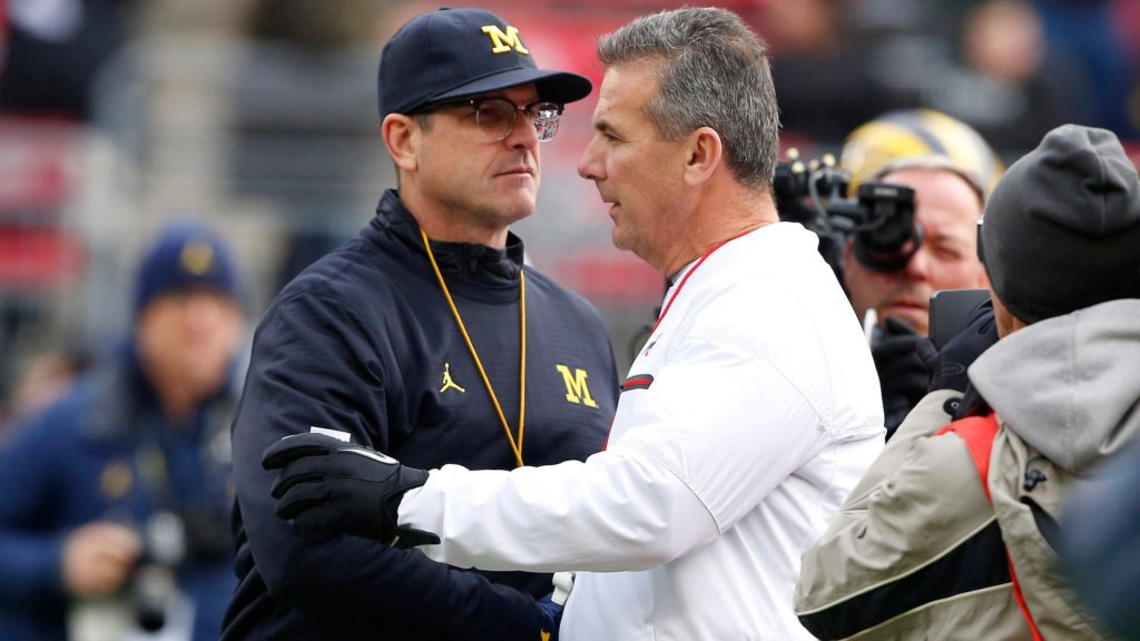 Urban Meyer Jim Harbaugh Michigan vs Ohio State 2016