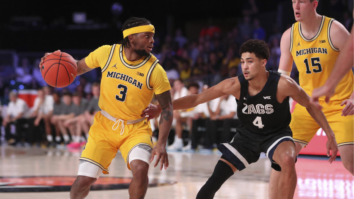 Zavier Simpson Michigan vs Gonzaga Battle 4 Atlantis 2019