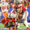 Trevor Lawrence Sack Clemson vs Ohio State Fiesta Bowl College Football Playoff 2019