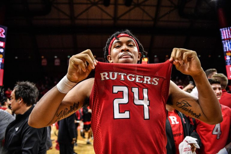 Ron Harper Jr. Rutgers Scarlet Knights vs Maryland 2020