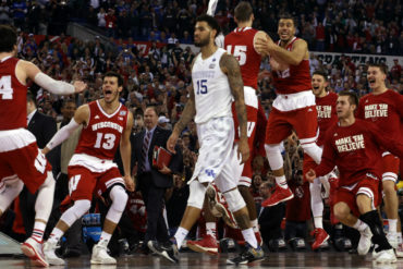 Wisconsin Badgers vs Kentucky Wildcats March Madness Final Four 2015