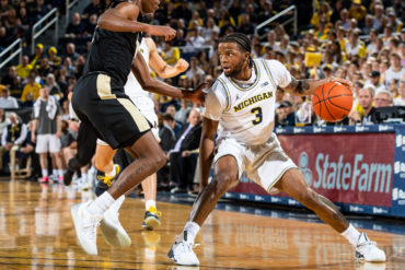 Zavier Simpson Michigan Wolverines vs Purdue 2020