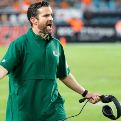 Manny Diaz Head Coach Miami (FL) Hurricanes ACC 2019