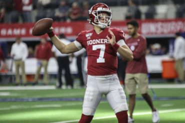 Spencer Rattler QB Oklahoma Sooners Big 12 Championship Game vs Baylor 2019