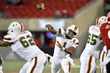 D'Eriq King QB Miami Hurricanes vs Louisville Week 3 2020