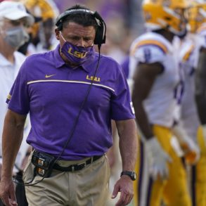 Ed Orgeron HC LSU Tigers vs Mississippi Week 4 2020