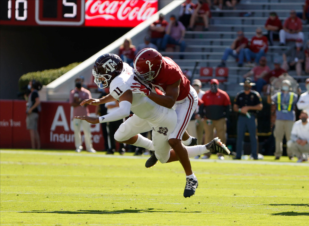 Patrick Surtain CB Alabama Crimson Tide vs Texas A&M Week 5 2020