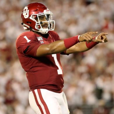 Jalen Hurts QB Oklahoma Houston Week 1 2019
