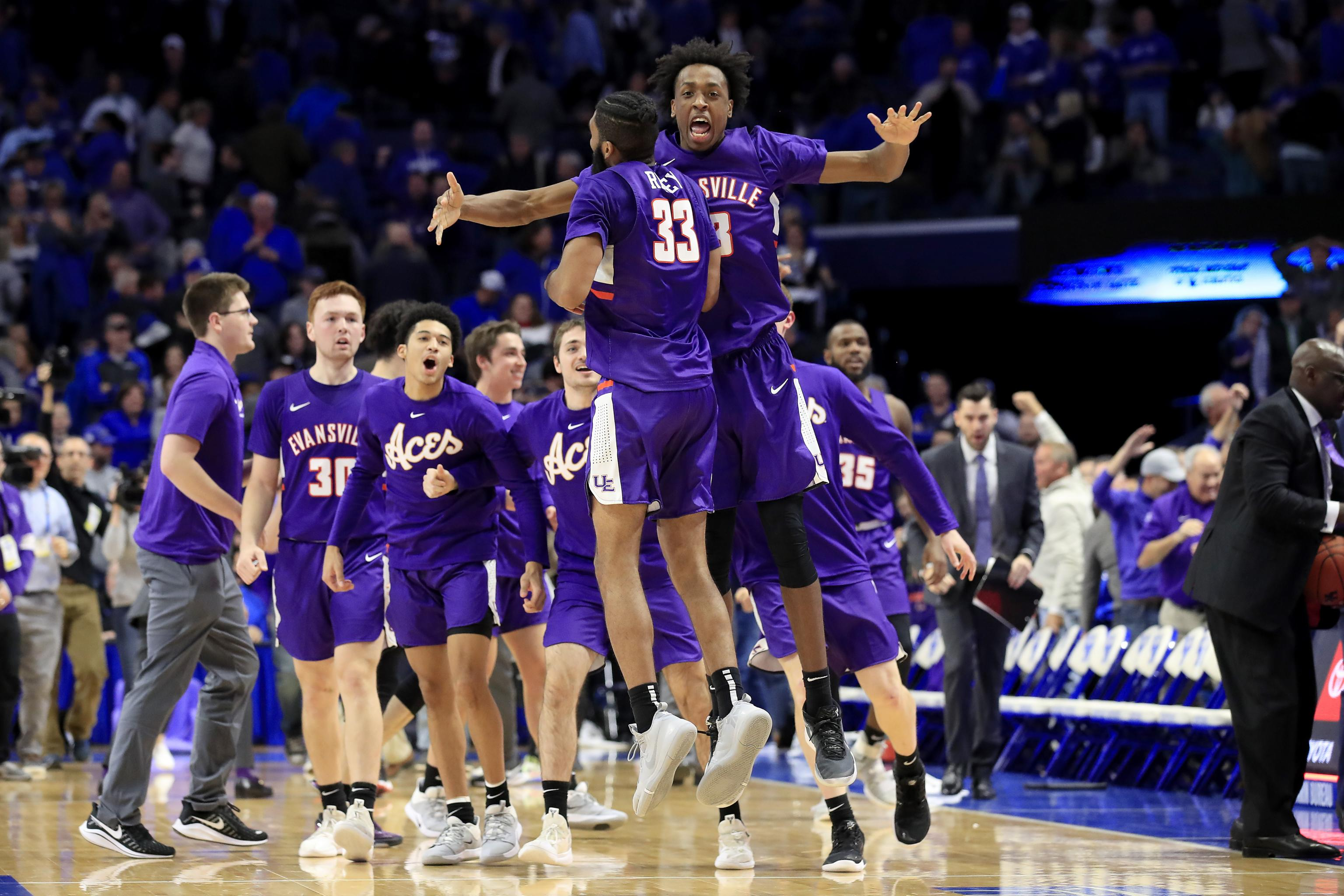 Evansville Purple Aces Celebration vs Kentucky Rupp Arena Week 2 2019