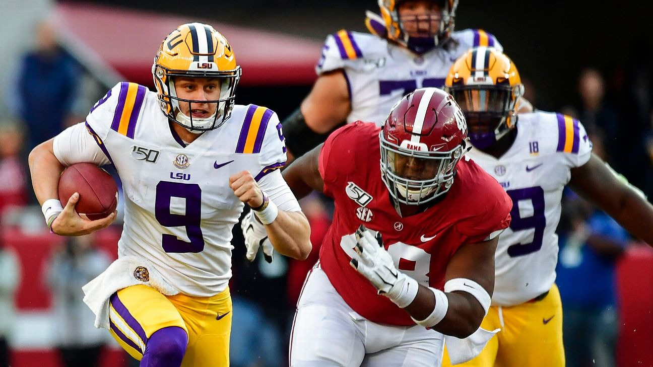 Joe Burrow QB LSU vs Alabama Week 11 2019