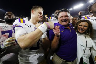 Joe Burrow Ed Orgeron LSU vs Alabama 2019