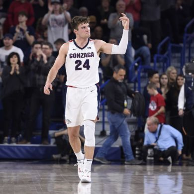 Corey Kispert Gonzaga vs North Carolina Week 6 2019