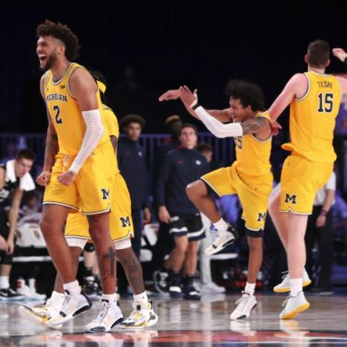 Isaiah Livers Michigan vs Gonzaga Battle 4 Atlantis 2019