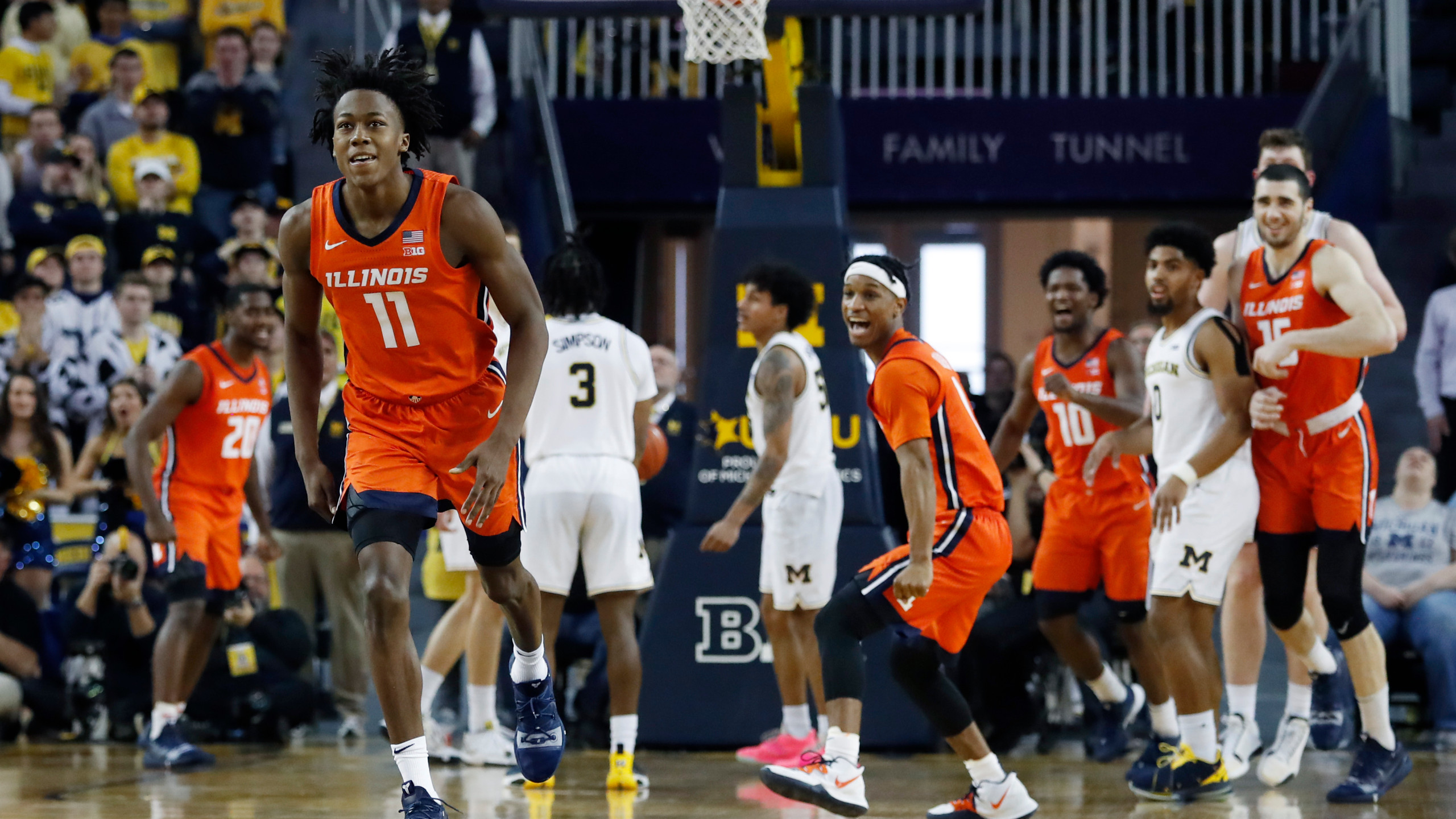 Ayo Dosunmu Illinois vs Michigan Week 12 2020