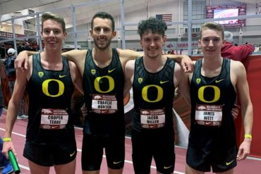 Oregon Ducks DMR Athlétisme Indoor