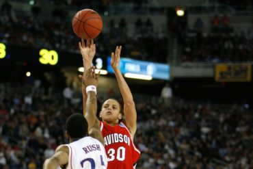 Stephen Curry Davidson Wildcats vs Kansas Elite 8 March Madness 2008
