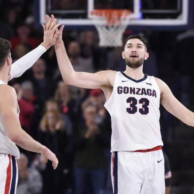 Killian Tillie Corey Kispert Gonzaga Bulldogs 2020