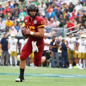 Brock Purdy QB Iowa State Cyclones Camping World Bowl vs Notre Dame 2019