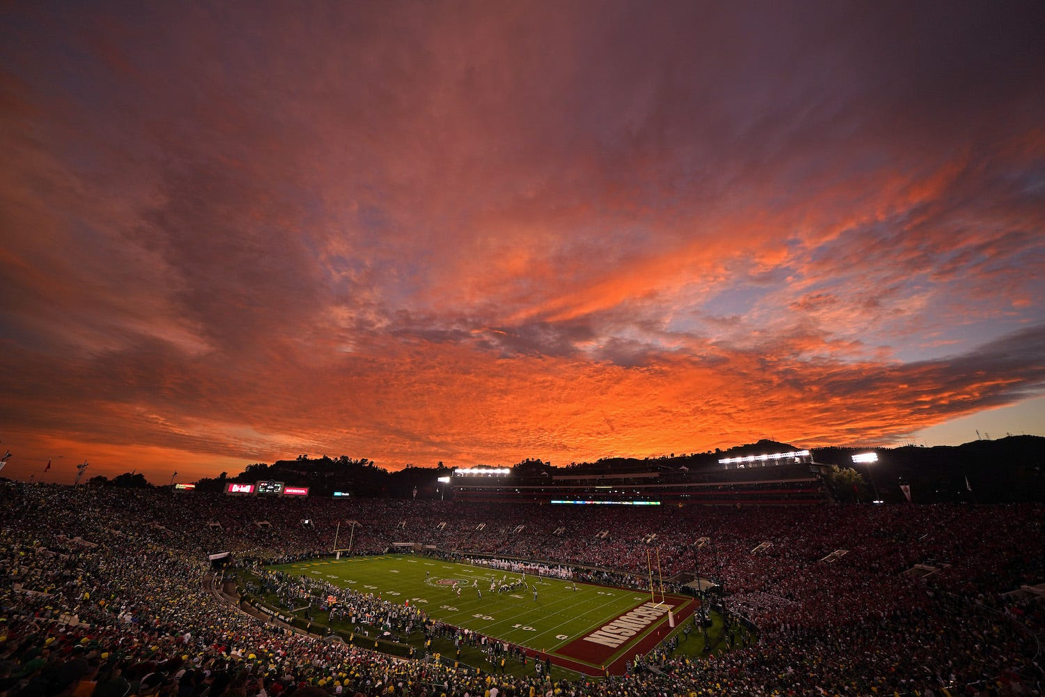Rose Bowl Football Game Oregon vs Wisconsin 2020