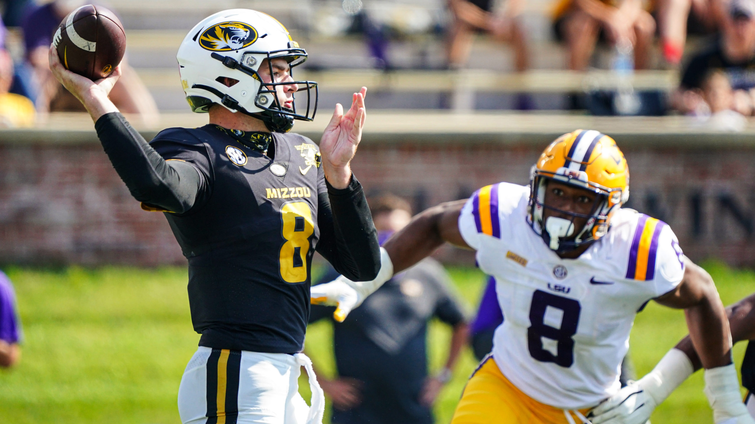 Connor Bazelak QB Missouri Tigers vs LSU Week 6 2020