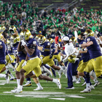 Notre Dame Fighting Irish Célébration Upset vs Clemson Week 10 2020