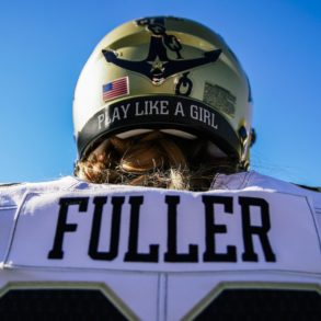 Sarah Fuller Vanderbilt Commodores vs Missouri Helmet Sticker 2020