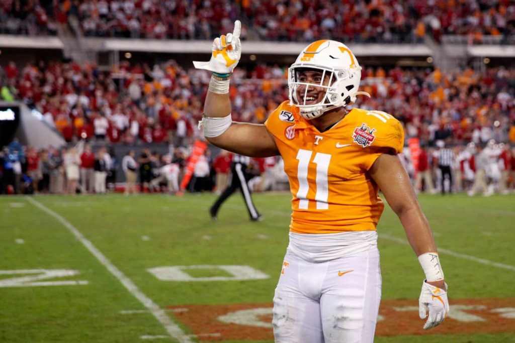 Henry To'o To'o LB Tennessee Volunteers vs Indiana Gator Bowl 2019